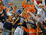 Bob Gathany / The Huntsville TImes  - Auburn vs. Missiisppi football at Vaught-Hemingway Stadium in Oxford, MS Saturday evening Oct. 30, 2010.  Auburn quarterback Cameron Newton (2) celebrates with Auburn fans in the stands after game.
