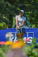 Cheyenne Woods (USA) watches her tee shot on 13 during round 2 of the 2018 KPMG Women's PGA Championship, Kemper Lakes Golf Club, at Kildeer, Illinois, USA. 6/29/2018.<br /> Picture: Golffile | Ken Murray<br /> <br /> All photo usage must carry mandatory copyright credit (© Golffile | Ken Murray)
