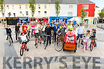 Ready for their Critical Mass bicycle ride in the Square in Tralee on Friday evening.