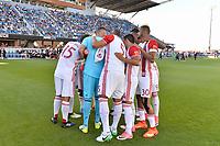San Jose, CA - Saturday June 17, 2017: San Jose Earthquakes  prior to a Major League Soccer (MLS) match between the San Jose Earthquakes and the Sporting Kansas City at Avaya Stadium.
