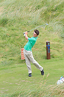 Sean Doyle (Athlone) on the 11th tee during Round 3 of The South of Ireland in Lahinch Golf Club on Monday 28th July 2014.<br /> Picture:  Thos Caffrey / www.golffile.ie