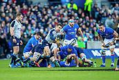 2nd February 2019, Murrayfield Stadium, Edinburgh, Scotland; Guinness Six Nations Rugby Championship, Scotland versus Italy; Greig Laidlaw of Scotland passes the ball