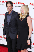 WESTWOOD, LOS ANGELES, CA, USA - JULY 10: Rob Lowe, Sheryl Berkoff at the World Premiere Of Columbia Pictures' 'Sex Tape' held at the Regency Village Theatre on July 10, 2014 in Westwood, Los Angeles, California, United States. (Photo by Xavier Collin/Celebrity Monitor)