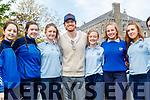 Hollywood actor Michael Fassbender visiting St Bridgets Presentation Secondary School in Killarney.