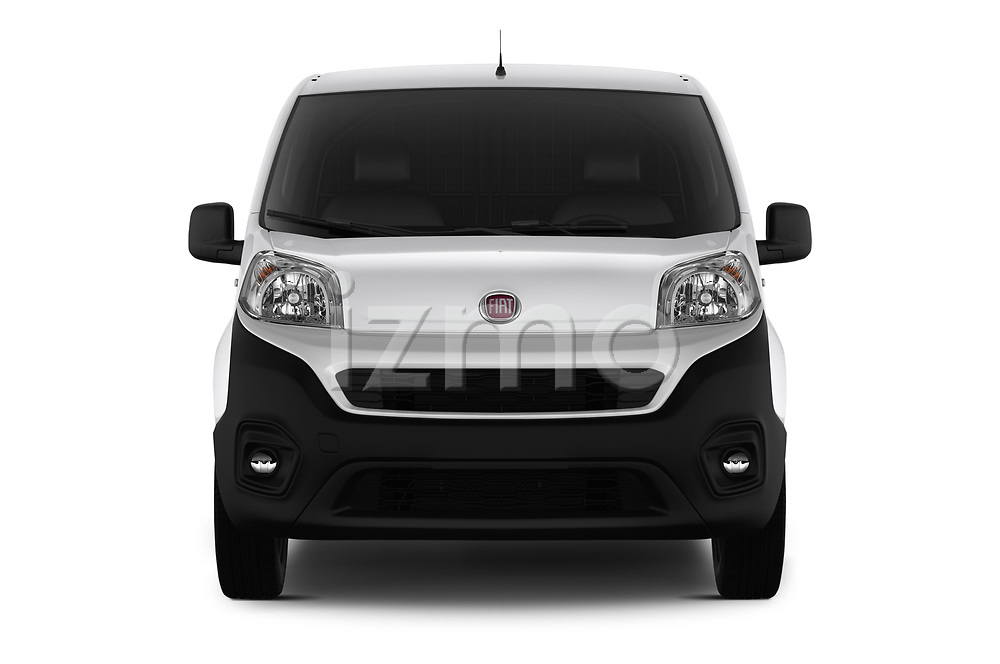 Car photography straight front view of a 2017 Fiat Fiorino Pack 4 Door Car Van Front View