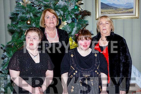 Maura and Kathleen Murphy Killarney, katie Gleeson and Margaret O'Sullivan Killarney  at the Kerry Stars ball in the Malton Hotel on Saturday night