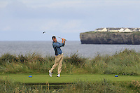 Jake Whelan (Newlands) on the 4th tee during Matchplay Round 1 of the South of Ireland Amateur Open Championship at LaHinch Golf Club on Friday 22nd July 2016.<br /> Picture:  Golffile | Thos Caffrey<br /> <br /> All photos usage must carry mandatory copyright credit   (© Golffile | Thos Caffrey)