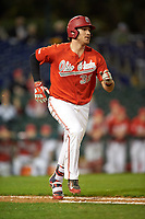 Ohio State Buckeyes first baseman Zach Ratcliff (32) during a game against the Pitt Panthers on February 20, 2016 at Holman Stadium at Historic Dodgertown in Vero Beach, Florida.  Ohio State defeated Pitt 11-8 in thirteen innings.  (Mike Janes/Four Seam Images)