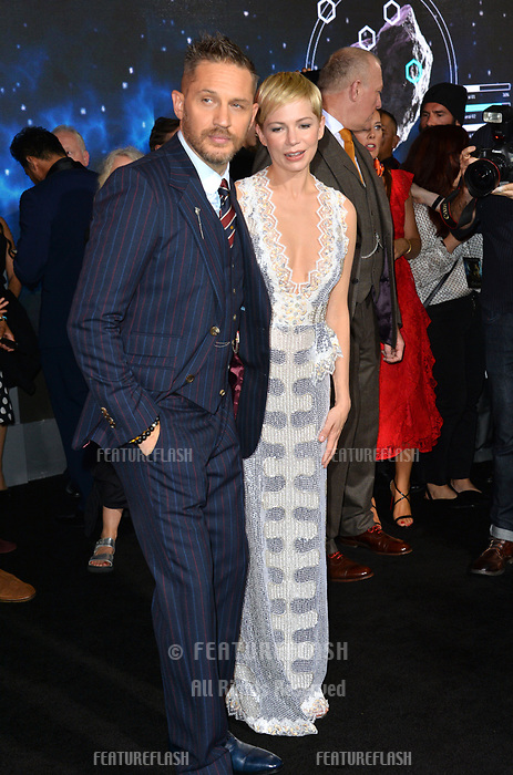 """LOS ANGELES, CA. October 01, 2018: Tom Hardy & Michelle Williams at the world premiere for """"Venom"""" at the Regency Village Theatre.<br /> Picture: Paul Smith/Featureflash"""
