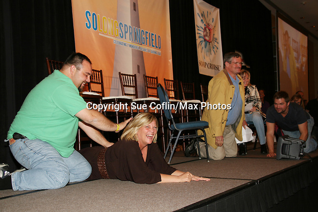 Kim - Jordan - Daniel and fans do a skit - So Long Springfield celebrating 7 wonderful decades of Guiding Light Event (Saturday afternoon) come to see fans at the Hyatt Regency Pittsburgh International Airport, in Pittsburgh, PA. during the weekend of October 24 and 25, 2009. (Photo by Sue Coflin/Max Photos)