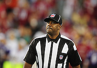 Dec 6, 2009; Glendale, AZ, USA; NFL referee Keith Washington during the game between the Arizona Cardinals against the Minnesota Vikings at University of Phoenix Stadium. The Cardinals defeated the Vikings 30-17. Mandatory Credit: Mark J. Rebilas-