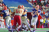 Terry Dean (12), Eric Sullivan (62), University of Florida Gators defeat the University of South Carolina Gamecocks 48-17 at Ben Hill Griffin Stadium, Florida Field, Gainseville, Florida, November 12, 1994 . (Photo by Brian Cleary/www.bcpix.com)