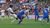 Swansea City's Joel Asoro has a shot at goal <br /> <br /> Photographer Ian Cook - CameraSport<br /> <br /> The EFL Sky Bet Championship - Swansea City v Ipswich Town - Saturday 6th October 2018 - Liberty Stadium - Swansea<br /> <br /> World Copyright &copy; 2018 CameraSport. All rights reserved. 43 Linden Ave. Countesthorpe. Leicester. England. LE8 5PG - Tel: +44 (0) 116 277 4147 - admin@camerasport.com - www.camerasport.com