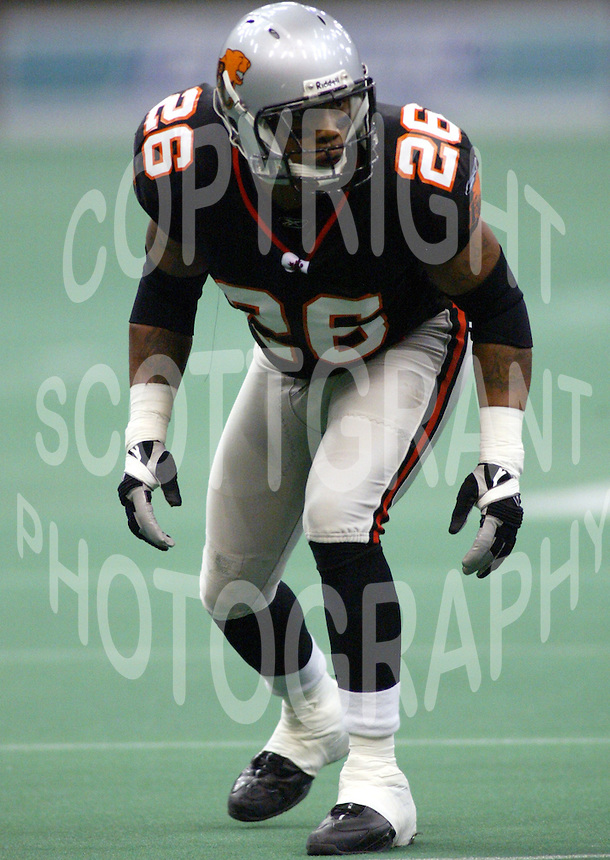 Carl Kidd BC Lions. Copyright photograph Scott Grant