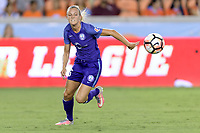 Houston, TX - Saturday June 17, 2017: Rachel Hill chases after a loose ball during a regular season National Women's Soccer League (NWSL) match between the Houston Dash and the Orlando Pride at BBVA Compass Stadium.