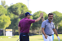 Padraig Harrington (IRL) holes out from the fairway on the 17th hole during Wednesday's Pro-Am of the 2018 Turkish Airlines Open hosted by Regnum Carya Golf &amp; Spa Resort, Antalya, Turkey. 31st October 2018.<br /> Picture: Eoin Clarke | Golffile<br /> <br /> <br /> All photos usage must carry mandatory copyright credit (&copy; Golffile | Eoin Clarke)