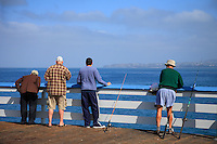 Men Fishing Off The San Clemente Pier