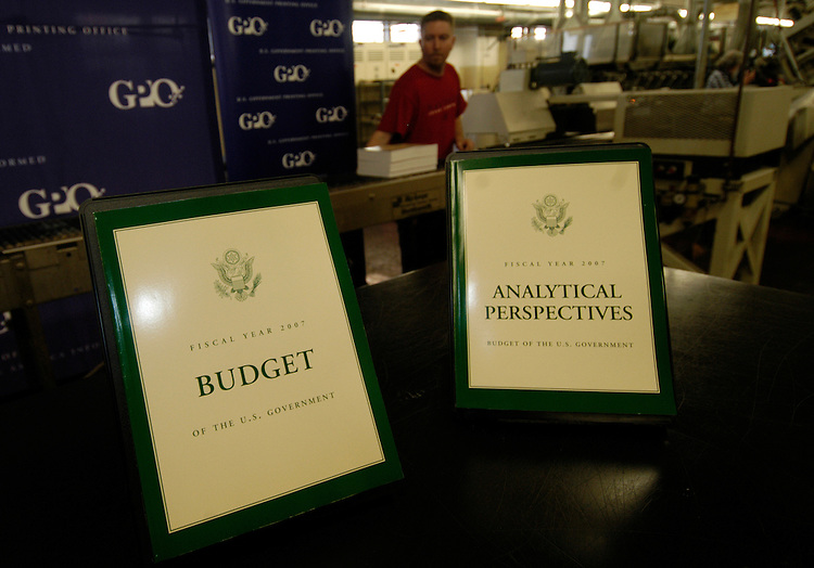 The Budget of the United States Government, Fiscal Year 2007, was released today off the printing presses of the U.S. Government Printing Office.