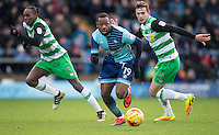 Myles Weston of Wycombe Wanderers during the Sky Bet League 2 match between Wycombe Wanderers and Yeovil Town at Adams Park, High Wycombe, England on 14 January 2017. Photo by Andy Rowland / PRiME Media Images.