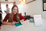 OIC - ENTSIMAGES.COM – Laura Bates, creator of the Everyday Sexism project, signs her books after giving a talk at the fifteenth Hay Festival Winter Weekend which takes place in venues around Hay-on-Wye  on the 28th 29th & 30th November. Also this year the Festival is honoured with the attendance of Booker Prize-winners Graham Swift and Eleanor Catton, language experts David and Ben Crystal, Danny Dorling on inequality & comedian Danny Ward. Hay-on-Wye, UK. 29th November, 2014. Photo: SnapDragon/Ents Images/OIC 0203 174 1069