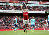 9th September 2017, Emirates Stadium, London, England; EPL Premier League Football, Arsenal versus Bournemouth; Alexis Sanchez of Arsenal jumps to catch the ball in the air