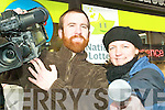 Is it you? Tralee film students Debra Carruthers and Kevin O'Brien were at hand with cameras in Listowel on Wednesday morning asking the public for clues as to the mystery millionaires in Listowel and what they'd do if they won.
