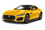 2020 Jaguar F-Type R 2 Door Coupe Angular Front automotive stock photos of front three quarter view
