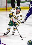 2 February 2020: University of Vermont Catamount Forward Ali O'Leary, a Senior from Reading, MA, in second period action against the Holy Cross Crusaders at Gutterson Fieldhouse in Burlington, Vermont. The Lady Cats rallied in the 3rd period to tie the Crusaders 2-2 in NCAA Women's Hockey East play. Mandatory Credit: Ed Wolfstein Photo *** RAW (NEF) Image File Available ***