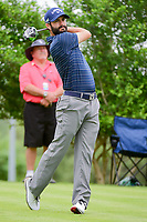 Adam Hadwin (CAN) watches his tee shot on 18 during round 1 of the Valero Texas Open, AT&amp;T Oaks Course, TPC San Antonio, San Antonio, Texas, USA. 4/20/2017.<br /> Picture: Golffile | Ken Murray<br /> <br /> <br /> All photo usage must carry mandatory copyright credit (&copy; Golffile | Ken Murray)
