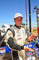 Apr 16, 2011; Surprise, AZ USA; LOORRS driver Dave Mason Jr celebrates after winning round 3 at Speedworld Off Road Park. Mandatory Credit: Mark J. Rebilas-.