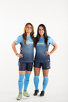 Belmar, NJ - Wednesday March 29, 2017: Jackie Bruno, Erica Murphy poses for photos at the Sky Blue FC team photo day.