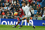 Real Madrid´s Danilo (R) and Real Sociedad´s Bruma during La Liga match between Real Madrid and Real Sociedad at Santiago Bernabeu stadium in Madrid, Spain. December 30, 2015. (ALTERPHOTOS/Victor Blanco)