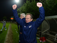 20190430 - OOSTAKKER , BELGIUM : Anderlecht's head coach Patrick Wachel pictured celebrating after winning the game and the championship after a womensoccer game between  AA Gent Ladies and RSC Anderlecht Dames  , during play-off 1 in the Belgian Women's Superleague, at the PGB Stadium in Oostakker , tuesday 30 th April 2019 . PHOTO SPORTPIX.BE | DAVID CATRY