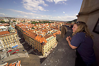 Prague, Czech Republic, July 2005. The heart of Prague's historical center is the Old Town Square. It has been beautifully restored. The city of Prague is more colourful than ever before. It offers both classical and modern designs, bars and hotels. Photo by Frits Meyst/Adventure4ever.com