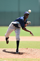 GCL Rays pitcher Deivy Mendez (35) delivers a pitch during a game against the GCL Red Sox on June 25, 2014 at JetBlue Park at Fenway South in Fort Myers, Florida.  GCL Red Sox defeated the GCL Rays 7-0.  (Mike Janes/Four Seam Images)