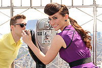 "Amy Heidemann and Nick Noonan, the engaged musical duo who perform under the name Karmin promoting their album, ""Hello"" at the Empire State Building's 86th floor Observatory in New York, 22.05.2012..Credit: Rolf Mueller/face to face / Mediapunchinc"