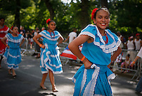 Dancers take part during the Annual National Puerto Rican Day Parade at the Fifth Ave in New York.  06/14/2015. Kena Betancur/VIEWpress