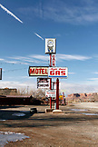 USA, Utah, Bluff, roadside gas station and RV park