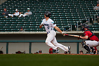 Nick Hanks (12) of notre dame High School in Rayne, Louisiana during the Under Armour All-American Pre-Season Tournament presented by Baseball Factory on January 14, 2017 at Sloan Park in Mesa, Arizona.  (Freek Bouw/MJP/Four Seam Images)