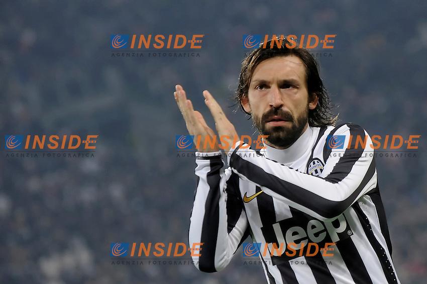 Andrea Pirlo Juventus  Torino 02/02/2014  Juventus Stadium Serie A Tim 2013/2014  Football Calcio Juventus vs Inter  Foto Giorgio Perottino / Insidefoto