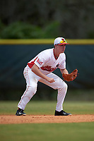 Illinois State Redbirds second baseman Derek Parola (16) during a game against the Michigan State Spartans on March 8, 2016 at North Charlotte Regional Park in Port Charlotte, Florida.  Michigan State defeated Illinois State 15-0.  (Mike Janes/Four Seam Images)