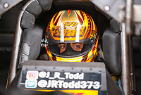 Sep 15, 2018; Mohnton, PA, USA; NHRA funny car driver J.R. Todd during qualifying for the Dodge Nationals at Maple Grove Raceway. Mandatory Credit: Mark J. Rebilas-USA TODAY Sports