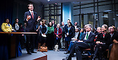 Council member Charles Allen addresses a packed house at the Committee on Education at an open house at the John A. Wilson Building in Washington, DC. <br /> <br /> <br /> PHOTOS/John Nelson