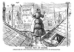 Positive Fact, of Course. A message comes off on Mrs Bluebag's linen, which she is hanging, as usual, on the telegraph wires.