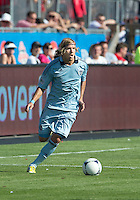 August 18, 2012: Sporting KC defender/midfielder Chance Myers #7 in action during an MLS game between Toronto FC and Sporting Kansas City at BMO Field in Toronto, Ontario Canada..Sporting Kansas City won 1-0.