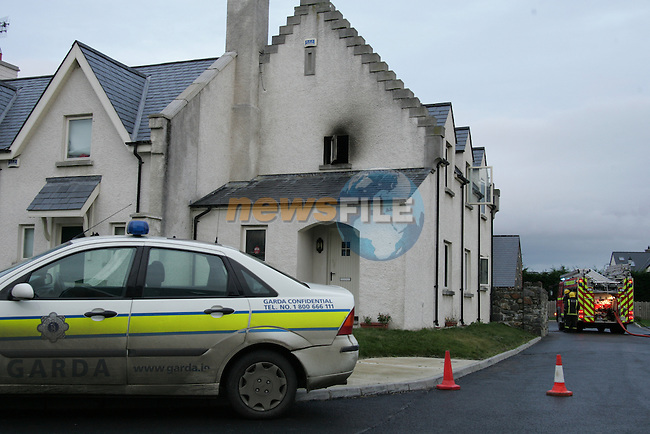 One dead in a house fire in Carlingford Co Louth. Fire service from Carlingford backed up by Dundalk Fire service attended the scene of a fatal house fire in Carlingford shortly after 1 pm today..Photo: Newsfile/Fran Caffrey.