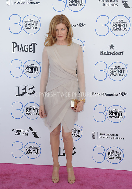 WWW.ACEPIXS.COM<br /> <br /> February 21 2015, LA<br /> <br /> Rene Russo arriving at the 2015 Film Independent Spirit Awards at Santa Monica Beach on February 21, 2015 in Santa Monica, California.<br /> <br /> By Line: Peter West/ACE Pictures<br /> <br /> <br /> ACE Pictures, Inc.<br /> tel: 646 769 0430<br /> Email: info@acepixs.com<br /> www.acepixs.com