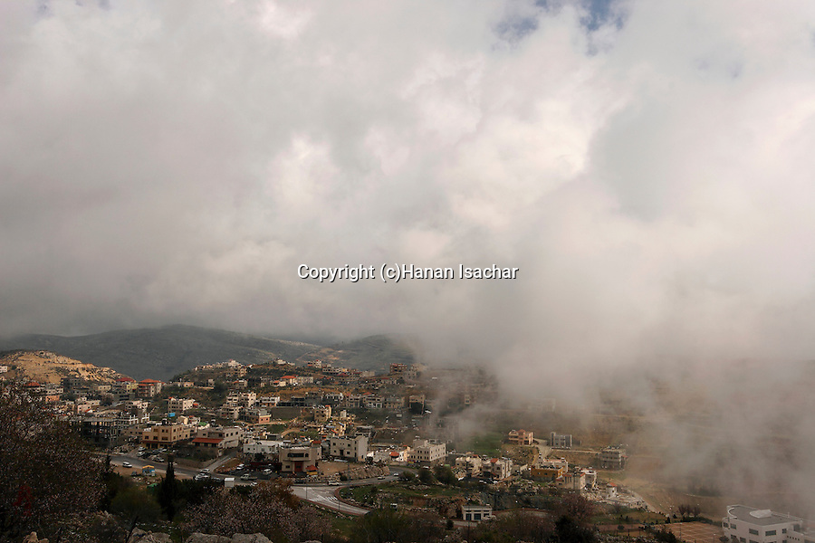 The Golan Heights. Druze village Majdal Shams at the foothill of Mount Hermon