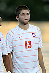 14 September 2012: Clemson's Preston Gayton. The Duke University Blue Devils defeated the Clemson University Tigers 2-0 at Koskinen Stadium in Durham, North Carolina in a 2012 NCAA Division I Men's Soccer game.