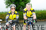 At the Currow Annual cycle on Sunday were l-r  Suzanne O'Sullivan,  and Paudie McCarthy from Currow Cycle club